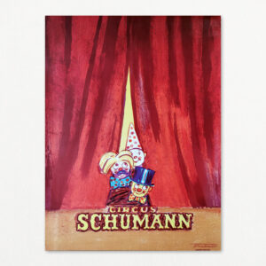 Original plakat af Erik Stockmarr for Cirkus Schumann, 1960.
