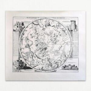 Hemisphaerium Coeli Australe 1730. Reproduktion udsendt af Bo Bedre.