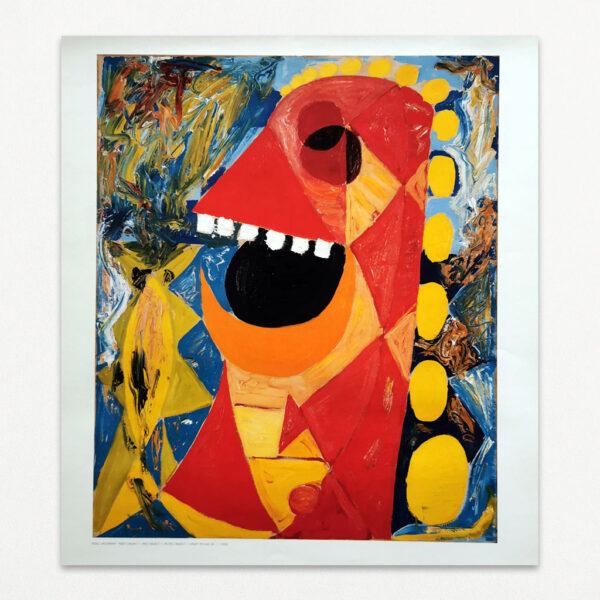 Plakat med maleri af Egill Jacobsen: Rødt objekt I