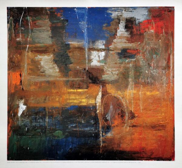 Plakart med Kehnet Nielsen: Dette landskabs form i sit dæmrende mørke nr. 2