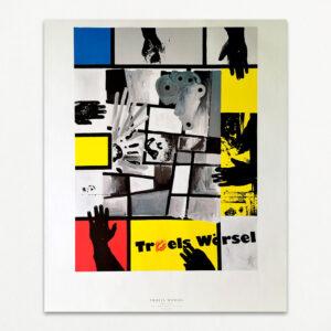 Plakat med motiv af Troels Wörsel: Uden titel, fra 1989. Udgivet af AIDS-Fondet 1995