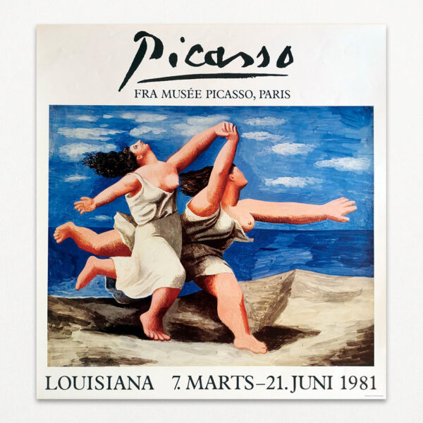 Original plakat fra udstilling på Louisiana med Pablo Picasso i 1981
