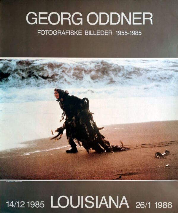 Plakat fra udstilling med Georg Oddner på Louisiana i 1985-1986