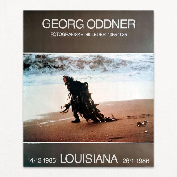 Original plakat fra udstilling med Georg Oddner på Louisiana i 1985-1986