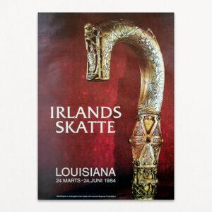 Irlands skatte. Original udstillingsplakat fra Louisiana 1984