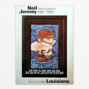 Plakat fra udstilling på Louisiana med Neil Jenney