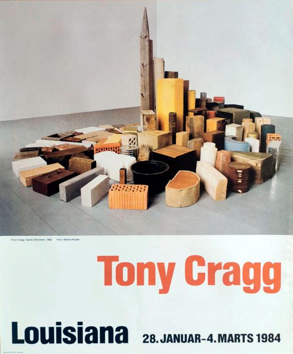 Plakat fra Louisiana fra udstilling med værker af Tony Cragg