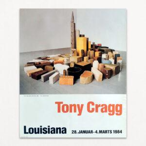 Original plakat fra Louisiana fra udstilling med værker af Tony Cragg